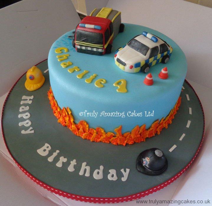 Police Car Cake Design : Police Car Birthday Cake Ideas and Designs