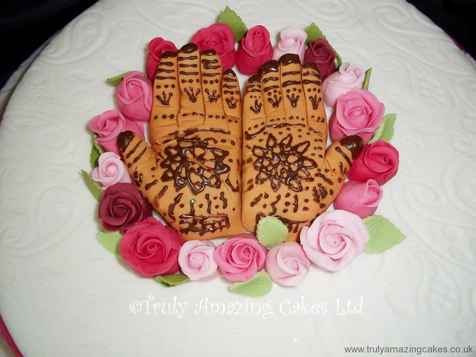 Mehndi Cake Topper : Truly amazing cakes special occasions