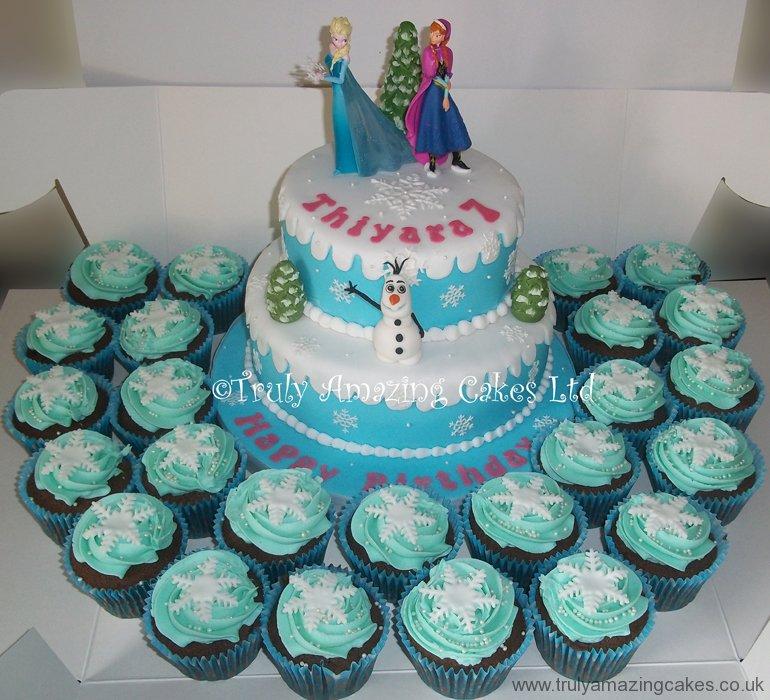 frozen fondant cupcake toppers frozen cupcake cake frozen cupcake cakeFrozen Cupcake Cake